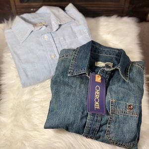 •LOT• Jean Button Up Shirts
